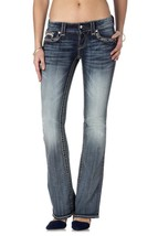 NEW ROCK REVIVAL WOMEN'S PREMIUM BOOT CUT DENIM JEANS RJ8146B80 CELINE B80