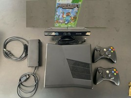 Microsoft Xbox 360 S (250 GB) Bundle with 2 CONTROLLERS Kinect & Minecraft - $148.45