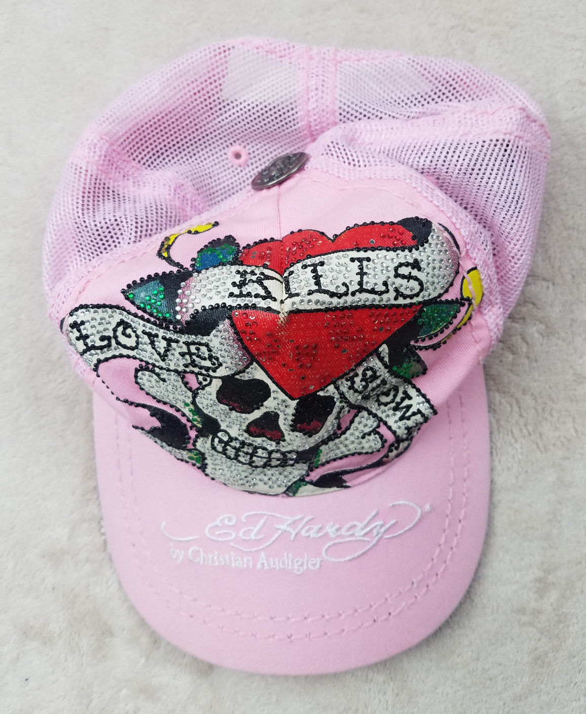 cdebbcce0 Ed Hardy Womens Pink Trucker Hat Cap and 50 similar items. 57