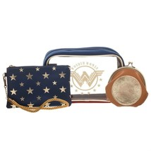 Wonder Woman Cosmetics Bag Set Blue - $29.98