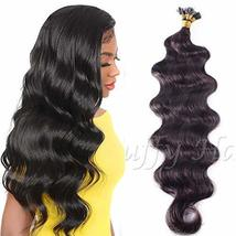 30inch Long Pre Bonded Flat Tip Hair Extensions Brazilian Remy Human Hair Body W - $62.37