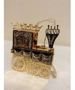 "Danbury Mint - 1990 Gold Christmas Ornament -  ""Christmas Locomotive"" (B3) - $15.95"