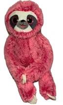 "Plush Nanco Pink Sloth Large Sparkly Eyes 21"" Sits or Hangs Big Stuffed ... - $25.46"