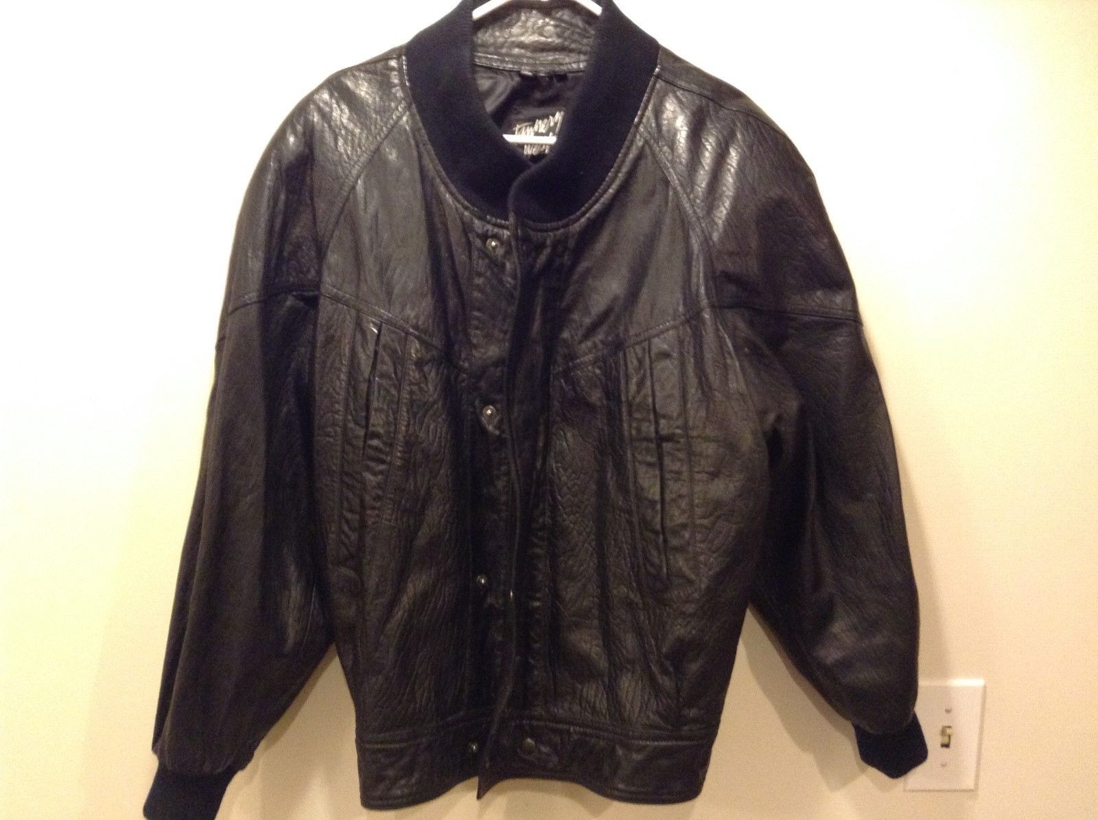 Tannery West Men's Black Leather Jacket Sz M