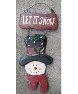 Christmas Decor 1234SnowNB - Let it Snow Snowman - $5.95