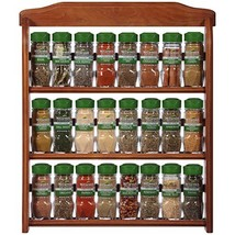 Organic Spice Rack by McCormick, 24 Herbs & Spices Included Wood Spice Set for W image 1