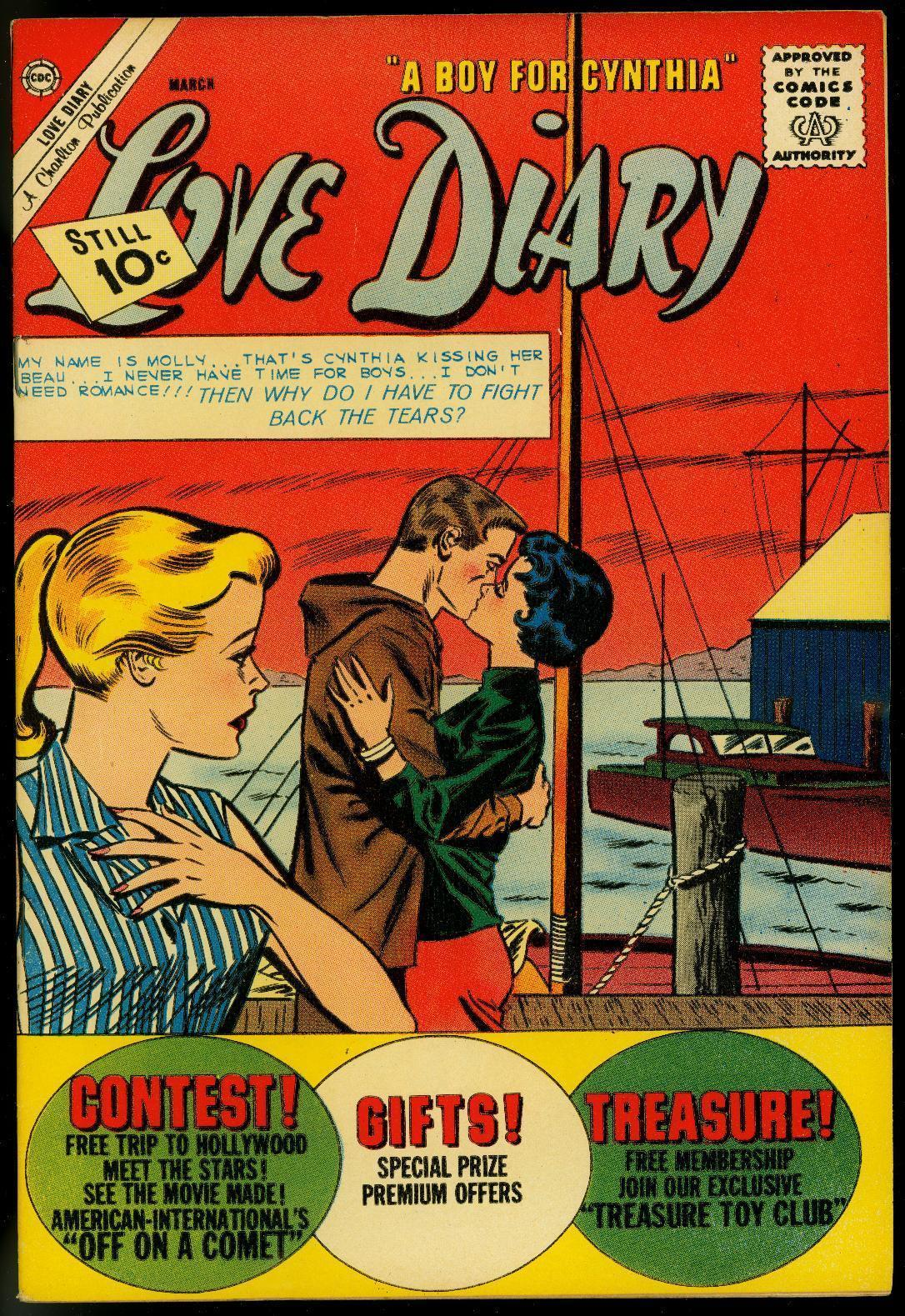 LOVE DIARY #20 1962-CHARLTON COMICS-BOAT COVER VG