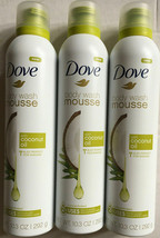 (3) Dove Body Wash Mousse with Coconut Oil Concentrated 10.3 Oz - $24.74