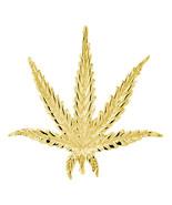 33mm Marijuana Pot Leaf Plant Charm in 18K Yellow Gold - $808.50