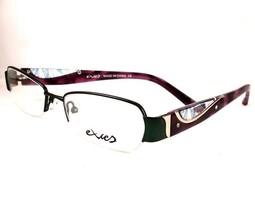 Excess Eyeglasses 3086 Green Purple Women Ladies 51-17-135 Semi Rimless - $88.11