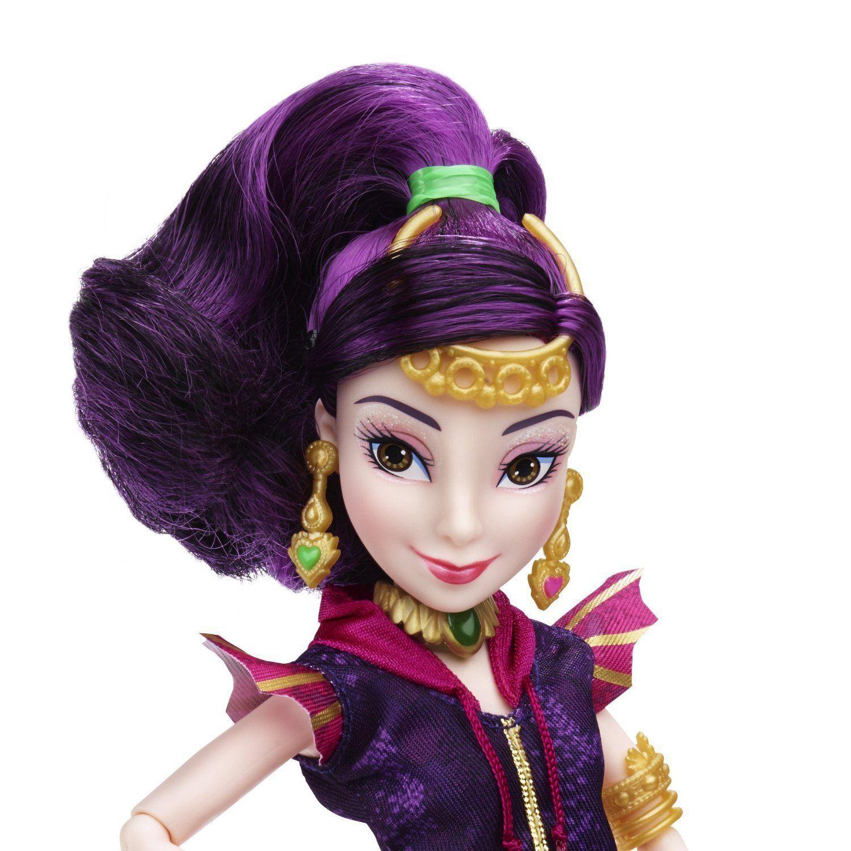 Image 2 of Disney Descendants Genie Chic Villain Mal Doll in Purple, Hasbro, 6+