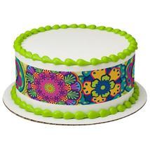 Festive Floral Edible Cake Topper Image Strips - $9.99