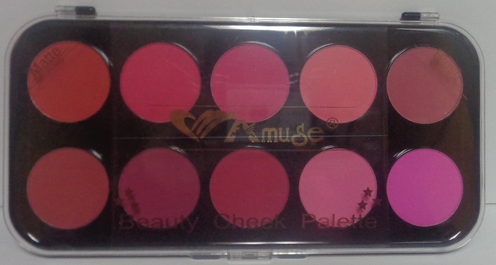 Amuse Matte Blush Cheek Palette NWT 10 Colors Free Shipping