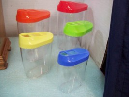 Set of Five Nesting Store & Pour Containers Kitchenware Storage - €7,71 EUR
