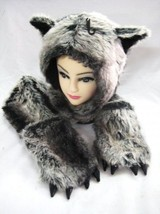 NEW UNISEX PLUSH CARTOON ANIMAL WINTER HAT CAP EARMUFF LONG WARM SCARF M... - $27.87 CAD