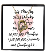 39th Anniversary Message Card Necklace, 39 Year and Counting Anniversary  - £21.78 GBP