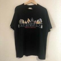 Mens [1997 STAR WARS Promo Short Sleeve T-shirt] Vintage SizeL Black - $197.99