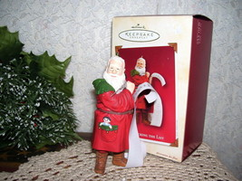 HALLMARK ORNAMENT CHECKING THE LIST 2002 SANTA MIB - $16.82
