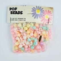 Vintage 1970's Pop Beads for Jewelry Sealed bag 144 pcs Pink Pastels Orange - $14.95