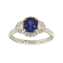 18k White Gold Diamond Tanzanite Sapphire Ring - $4,500.00