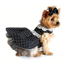 Polka Dot Dog Dress - Black and White - $49.99