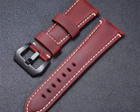 E crazy horse genuine leather watchband red blue brown watch straps 22mm 24mm 26mm thumb155 crop