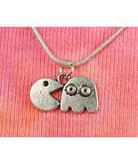 Pacman Necklace, Gamer Charm Pendant Gift Jewelry (No Chain) - $27.71