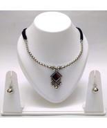 Set Necklace Earrings Jhumka Silver Oxidized Jewelry Tribal Classy Boho ... - $7.18