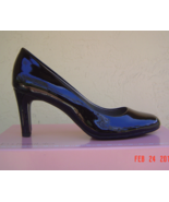 NEW BANDOLINO BLACK BEIGE PATENT LEATHER   PUMPS SIZE 8 SIZE 8.5 M $69 - $31.02