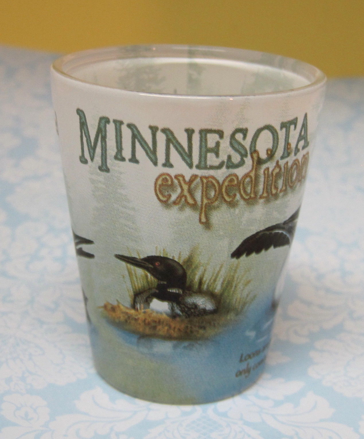 Primary image for Cool Minnesota Expedition Loons Souvenir Shot Glass Great Shape