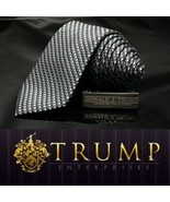 Donald TRUMP Signature Collection 100% Silk Necktie Charcoal Black - $101.20