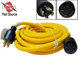 20 FT 30 Amp Nema L14-30 4 Prong Wire Generator Extension Power Cord 125... - $76.93