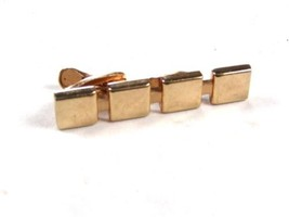 1960's 4 Squares Goldtone Tie Clasp by HICKOK U.S.A. 101615 - $24.74