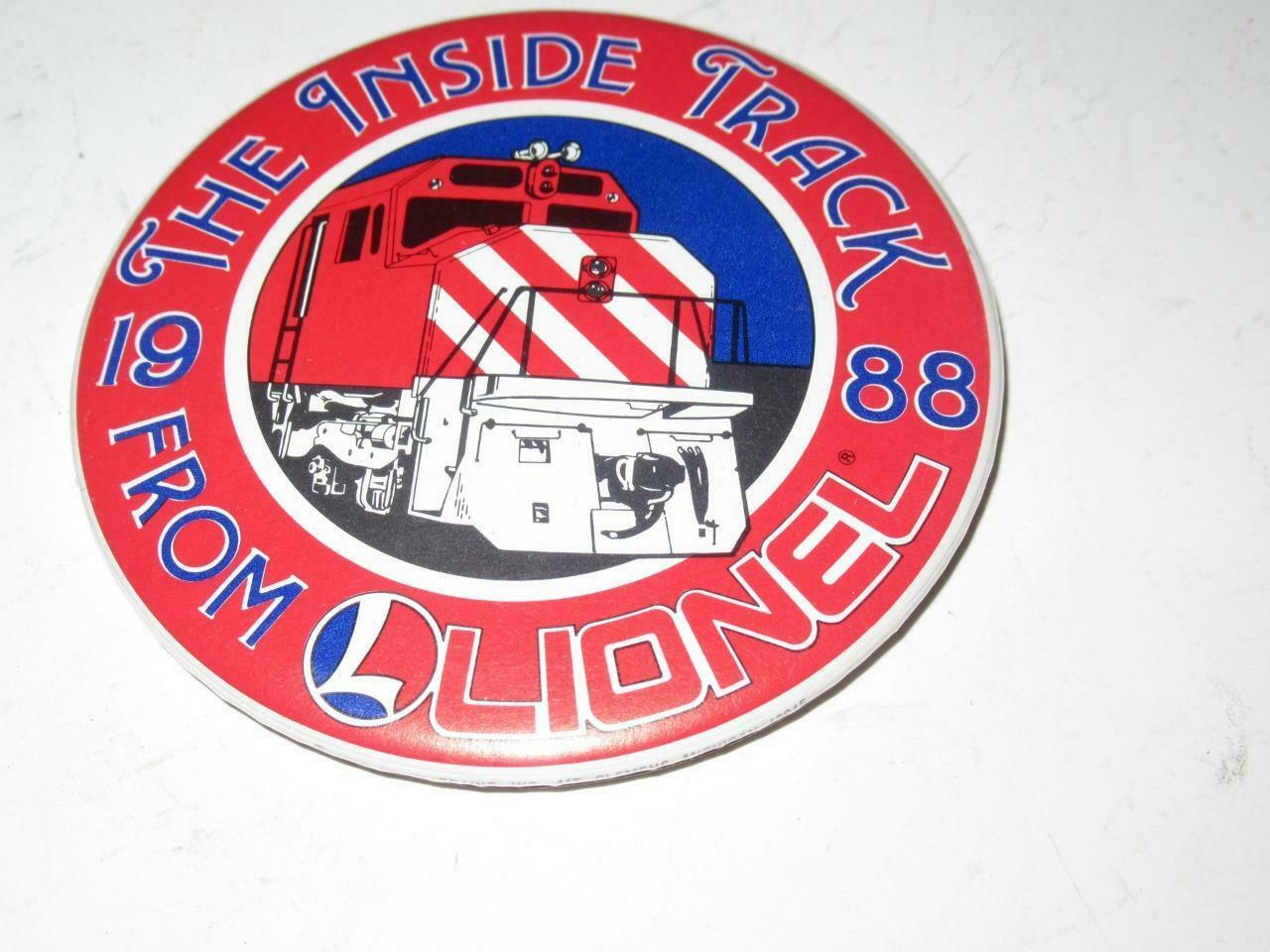Primary image for LIONEL PIN - 3 1/2' - INSIDE TRACK - 1988   - EXC- H19