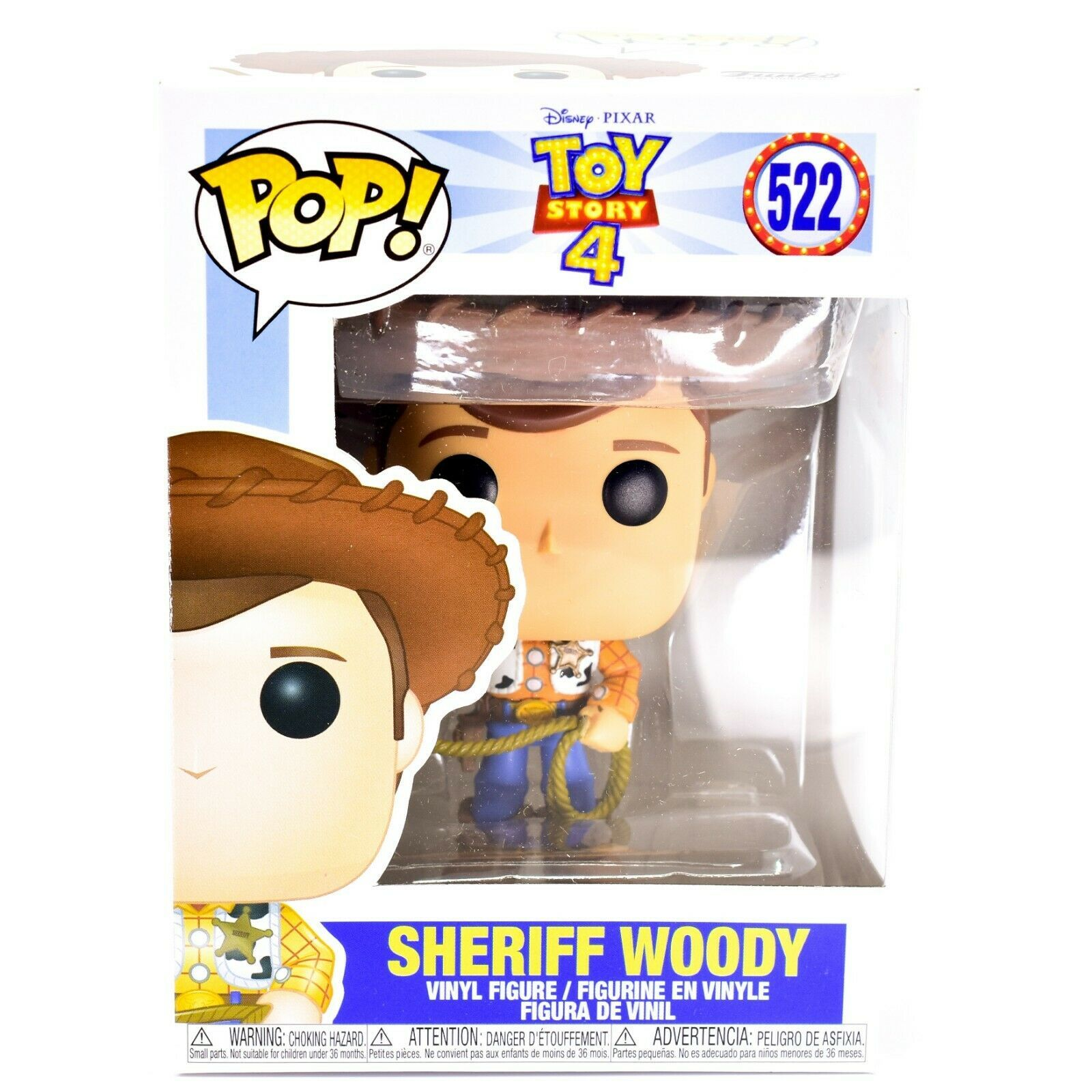 Funko Pop! Disney Pixar Toy Story 4 Sheriff Woody #522 Vinyl Action Figure