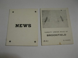 1958 Star Reporter Board Game Piece: News Card - Brookfield - $1.00