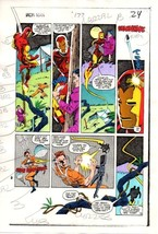 1983 Iron Man 177 original Marvel Comics color guide art page 24: 1980's Ironman - $99.50
