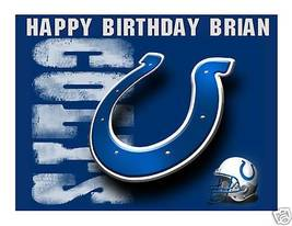 Indianapolis Colts Edible Cake Image Cake Topper - $8.98+