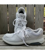 New Balance Leather Sneakers Womens Size 9 B White Athletic Walking Shoe... - $34.63