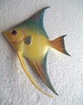 Tropical Fish Wall Plaque Tiki Bar Beach Pool Nautical Decor Size 8.75 i... - $11.49
