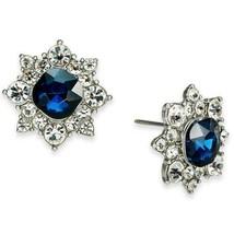 Charter Club Sapphire BLUE/CLEAR Crystal Flower EARRINGS**NEW!**2 Left!!! - $17.09
