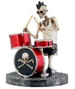 Skull Drummer - Collectible Figurine Statue Sculpture Figure Model - $32.66