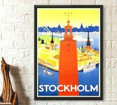Stockholm Travel Poster Travel Wall Art Swedish Prints Travel Decor Stoc... - $16.99+