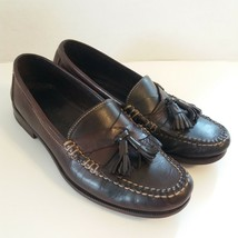Cole Haan Men Loafers 100 % Genuine Leather Hand Sewn Chocolate Color Size 9 1/2 - $38.12