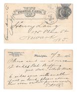 UX5 1876 Phila PA Fancy Cork Cancel Turner Andrew co to Henry Lang Newar... - $9.95