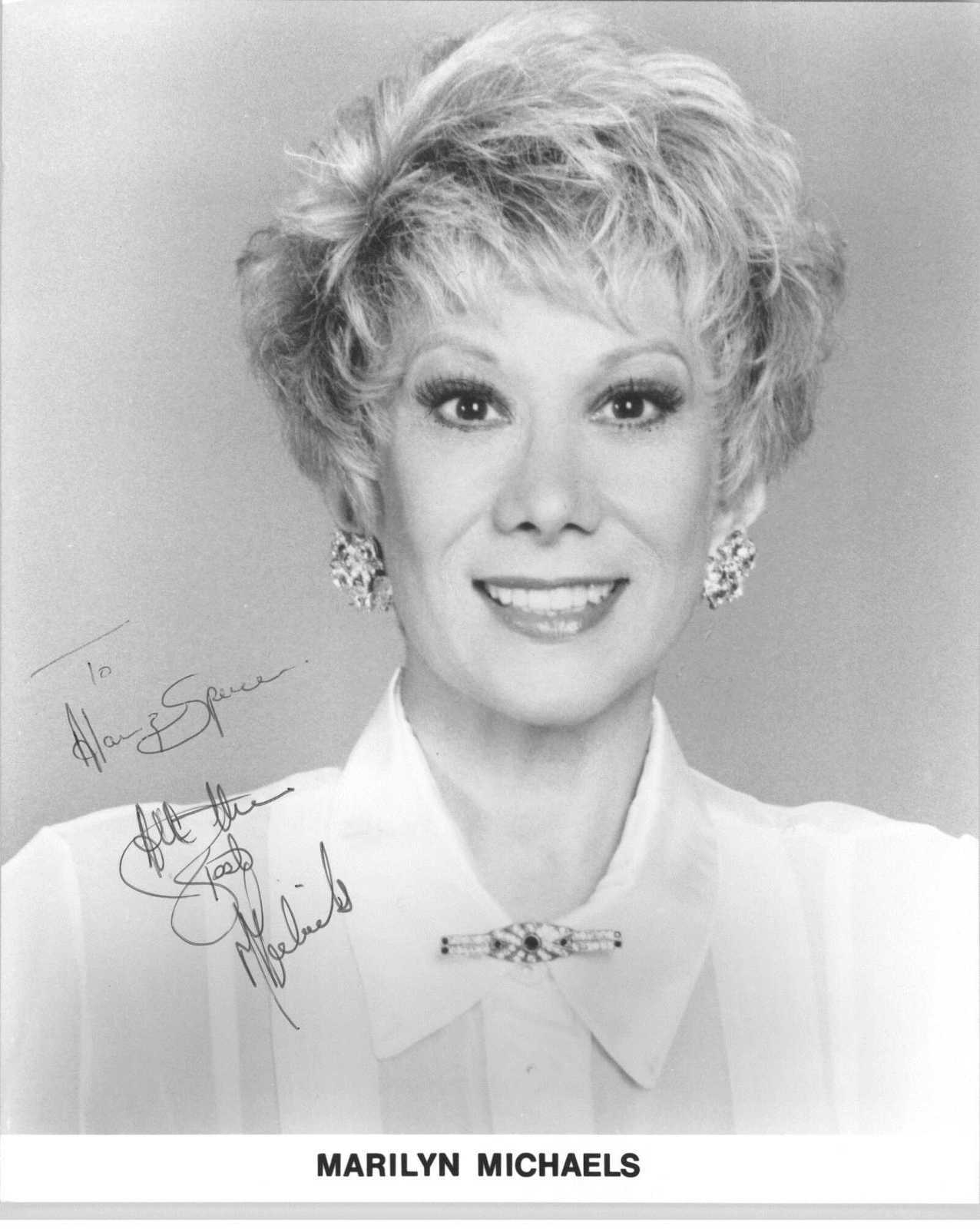 Primary image for Marilyn Michaels Signed Autographed Glossy 8x10 Photo