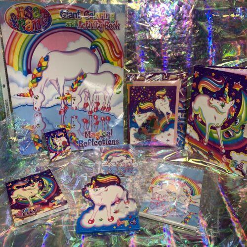 Vintage Lisa Frank Markie The Unicorn Lot Diary Stickers Stationery Keychain