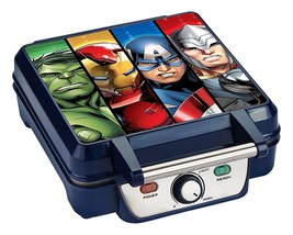 Marvel MVA-281 Avengers Waffle Maker Blue Kitchen Family Size Appliance NEW - €26,14 EUR