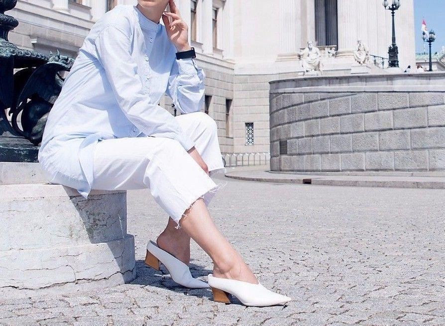 2865c555a00f Bnwt Zara White Leather Mule Shoes Bloggers and 50 similar items. S l1600