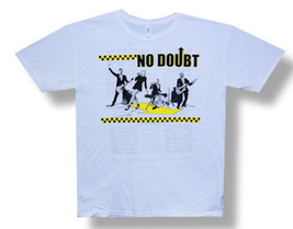 No Doubt-Ska Checkers-Band-2009 Tour-White Lightweight T-shirt - $12.99